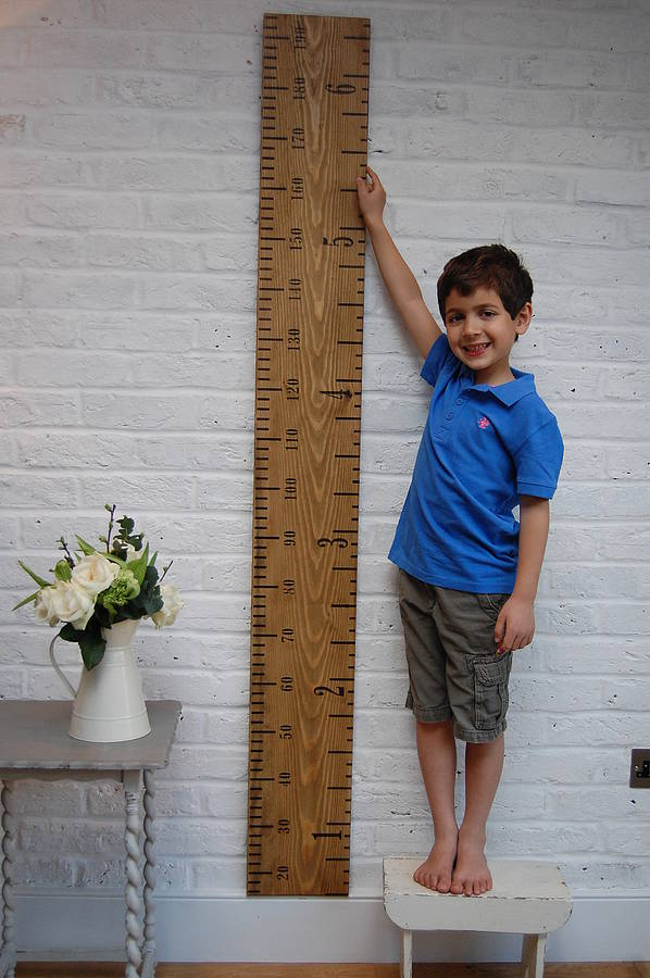 personalised wooden ruler height chart 39 kids rule 39 by lovestruck interiors. Black Bedroom Furniture Sets. Home Design Ideas
