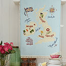 British Isles Map Cotton Tea Towel