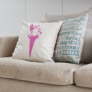 Ice Cream Delight Cushion - bedroom