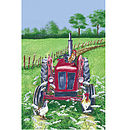 Tractor Linen Tea Towel