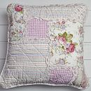 Shabby Chic Country Style Patchwork Cushion