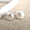 Silver Freshwater Pearl Bud Earrings