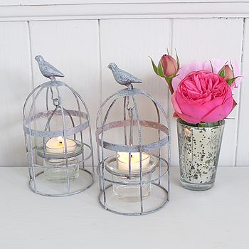Bird Cage Tea Light Holders