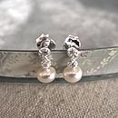 Petite Silver And Pearl Earrings
