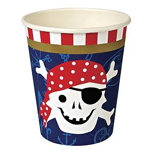 Ahoy There Pirate Paper Cups