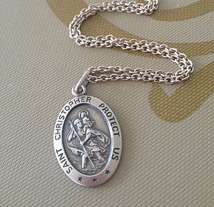 Personalised Men's St Christopher Pendant - necklaces