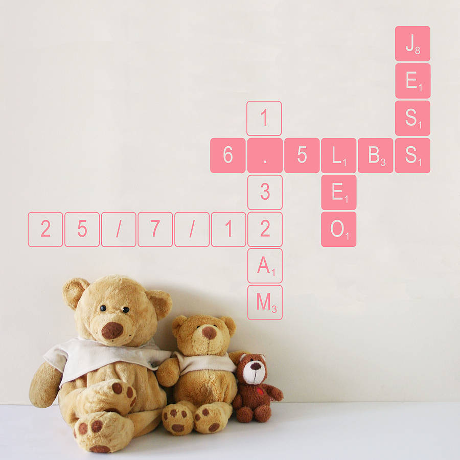 Wall stickers extra - Extra Small Solid Outline Pink Letter Tiles