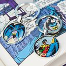 Comic Superhero Friendship Keyring Set