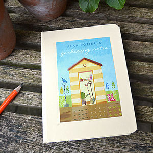 Personalised Gardening Notebook - gardener