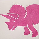 Girl's Room Handprinted Triceratops Dinosaur