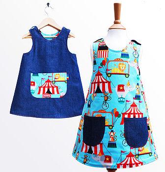 Circus Print Reversible Dress