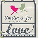 Personalised In Love Birds Canvas