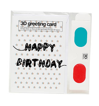 3D Card Personalise Yourself