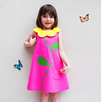 Wild Flower Girl's Summer Dress