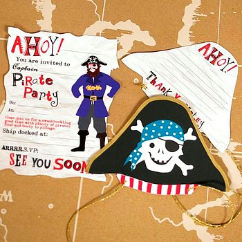 Pirate Invitation And Thank You Card Set