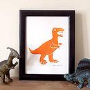 Dinosaur T Rex Print