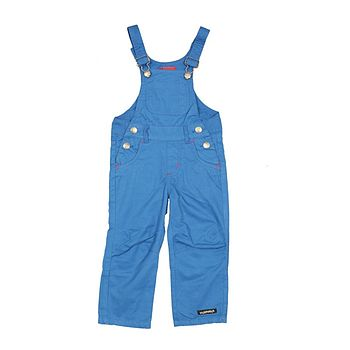 Impkids Villervalla Children's Cotton Canvas Dungarees - Cobalt Blue