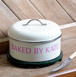 Personalised Retro Cake Tin - kitchen accessories