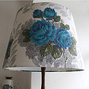 Vintage Lampshade In Sable Barkcloth