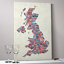Great Britain Text Map Art Print