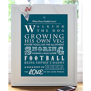 Typographic 'What Does… Love?' Art Print