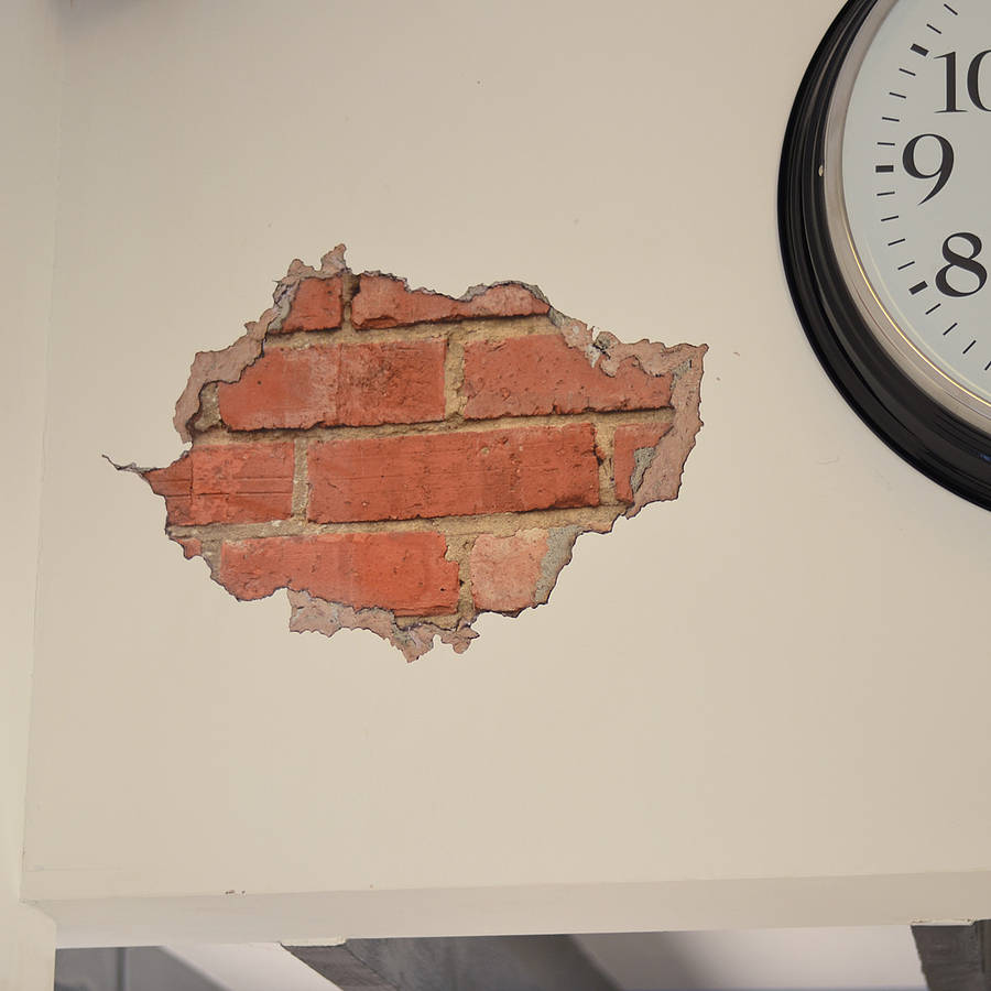 Wall Art Stickers Not On The High Street : Brick and plaster wall sticker by oakdene designs