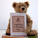 Personalised Handmade New Baby Girl Card