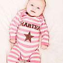 Personalised Girl's Single Star Romper
