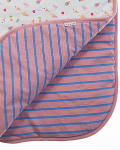 Girl's Reversible Summer Pram Blanket