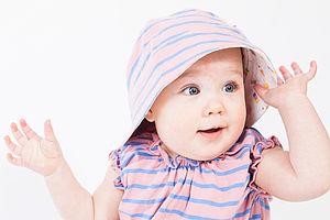 Girl's Reversible Sunhat - babies' hats
