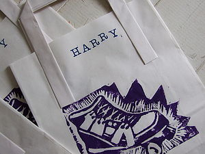 Personalised Rollerskate Paper Party Bags