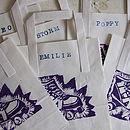 Personalised Rollerskate Party Bags