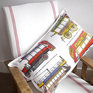 Vintage Bus Cushion