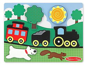 Wooden Train Scene Puzzle - toys & games