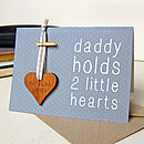Grey Personalised Father's Day Token Card