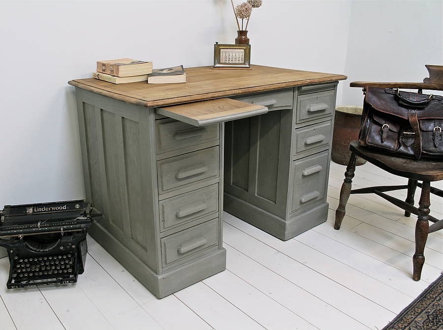 Painted Desk Alluring With Painted Victorian Antique Oak Office Desk Photo
