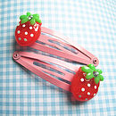 Strawberry Snap Hair Clips