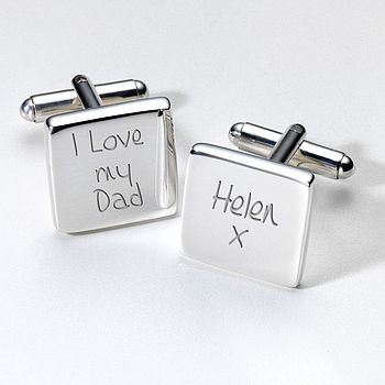 Personalised I Love My Dad Cufflinks And Case