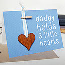 Blue Personalised Father's Day Token Card