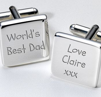 Personalised 'World's Best Dad' Cufflinks