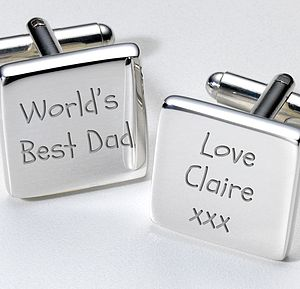 Personalised 'World's Best Dad' Cufflinks - cufflinks