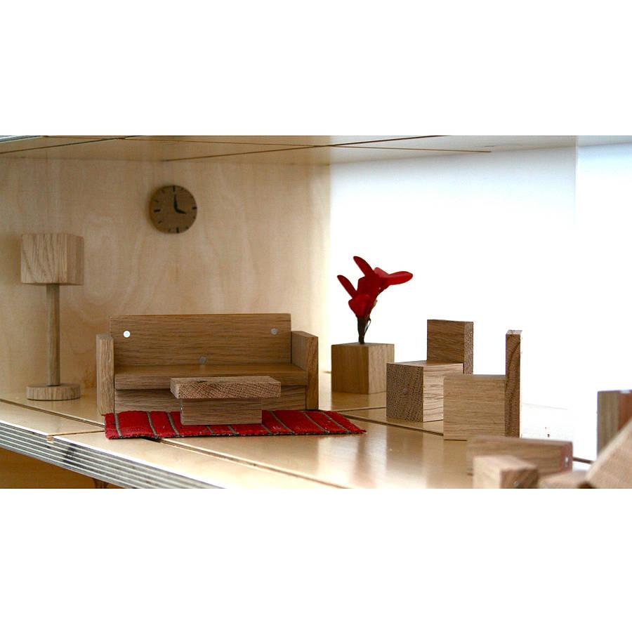 Magnetic Dolls House Living Room Furniture By Qubis Design
