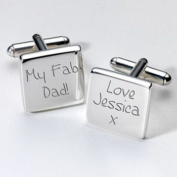 Personalised 'Fab Dad' Cufflinks