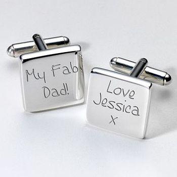Personalised 'Fab Dad' Cufflinks