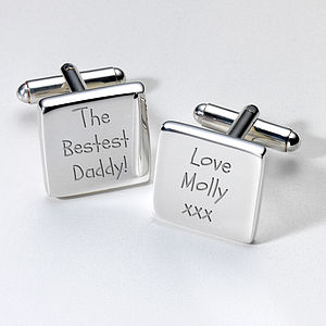 Personalised Bestest Daddy Cufflinks And Case - the best daddy in the universe