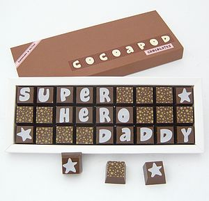 Personalised Chocolates For FATHERS - chocolates & confectionery
