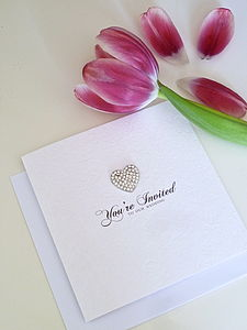 All Heart Wedding Invitation - wedding stationery
