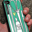 Stationery iPhone 4/4s Case by Angela Chick