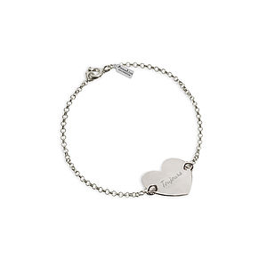 Personalised Engraved Heart Bracelet