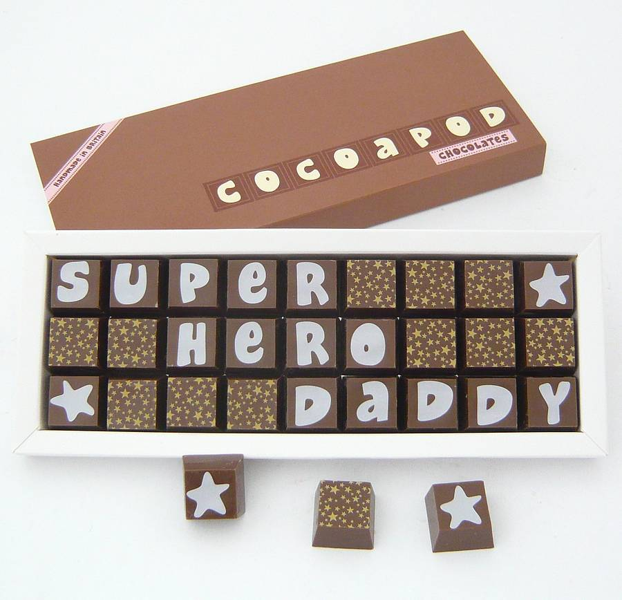Personalised Chocolates For Foodie Dads